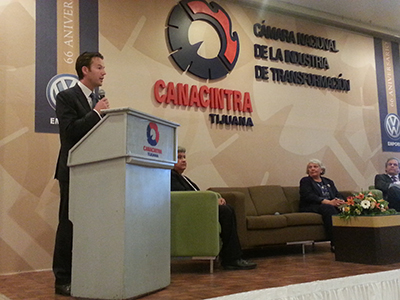 Photo 1 of 1: Speaking at the Canacintra Tijuana Binational Small Business Forum