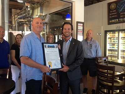 Photo 1 of 1: Councilmember Kersey Presenting the proclamation for Ballast Point Week