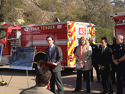 Photo 1 of 1: Councilmember Kersey Speaking at the Mission Valley Fire Station groundbreaking