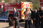 Photo of Councilmember Kersey at the Mission Valley Fire Station Groundbreaking