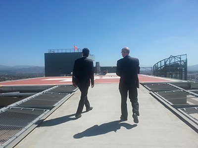 Photo 1 of 1: Councilmember Kersey touring Palomar Hospital Helicopter Pad