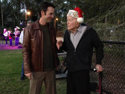 Photo 1 of 1: Councilmember Kersey With Col. Bob Dingeman at the Scripps Ranch annual Tree Lighting Ceremony