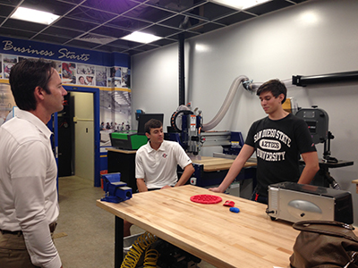 Photo 1 of 1: Councilmember Kersey Meeting with young entrepreneurs at San Diego State University's Zahn Center