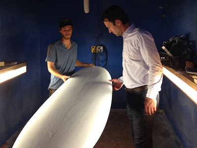 Photo 1 of 1: Councilmember Kersey Visiting Shaper Studios