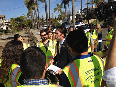 Photo 1 of 1: Sidewalk Assessment Kick-off