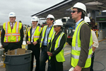 Photo of Councilmember Kersey Touring the San Ysidro Port of Entry to see the upgrades being made at the border