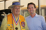 Photo of Councilmember Kersey Honoring Rancho Bernardo Volunteer of the Year and RB Lions Club President Randy Swenson