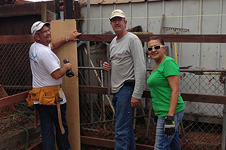 Councilmember Sherman and staff volunteering for habitat for humanity