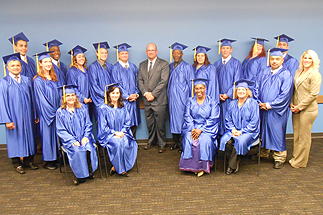 Photo of Councilman Sherman and the Second Chance Graduating Class