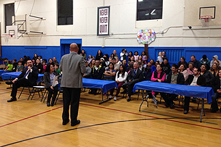 Photo of Councilman Sherman at the Empower Charter School Opening