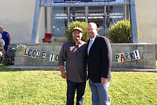 Photo of Councilman Sherman at the Grand Opening of New Pocket Park in Linda Vista
