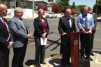 Photo of Councilman Sherman at the Road Repair Press Conference