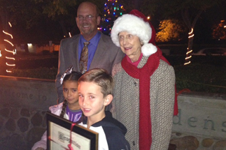 Photo of Councilman Sherman at the Allied Gardens Tree Light Ceremony