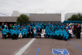 Photo of Councilman Sherman at the San Diego Urban Corps Graduation