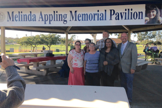 Photo of Dedication of New Shade Structure in Linda Vista to Honor Melinda Appling
