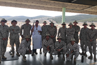Photo of Councilman Sherman with Marines at Miramar Air Base