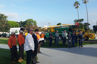 Photo of Saluting Branches; Arborists United for Veteran Remembrance event