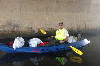 Photo of Councilman Sherman and Shore Clean-up
