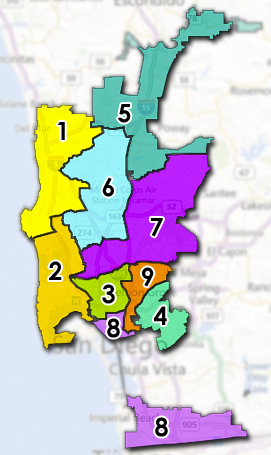 Map of Council Districts