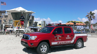 Photo of Lifeguard Toyota Truck on the Beach