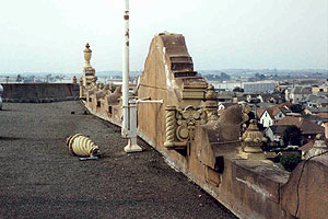 photo of fallen wall decoration roof