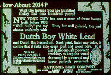 Dutch Boy White Lead Label