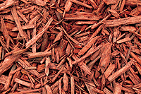 Photo of red wood chips