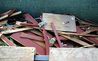 Photo of Wood Scraps in Recycle Bin
