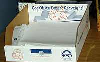 Photo of Recycling Container on Top of Desk