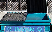 Photo of Commercial Dumpster Two Sides Lid