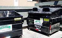 Photo of Trash and Recycling Dumpsters