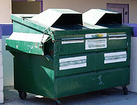 Photo of Commercial Dumpster Wider Opening Lid
