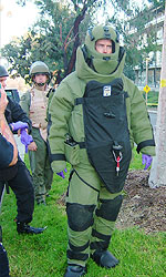 Photo of Bomb Squad team member