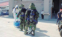 Photo of Bomb Squad training