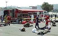 Photo of disaster drill