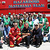 CERT San Diego members, HAZMAT presenters, and Battalion Chief at conclusion of training