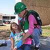 Photo of CERT Volunteer and Child