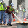Photo of CERT Class Using Fire Extinguishers