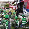 Photo of Fire Department Helicopter and CERT Class