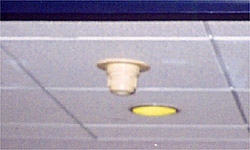 Photo of elevator controls - smoke detector