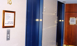 Photo of closed elevator doors