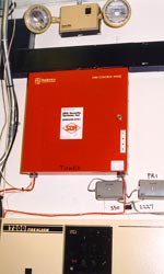 Photo of fire alarm control panel