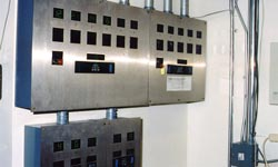 Photo of elevator annunciator panel