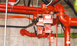 Photo of sprinkler system internal piping