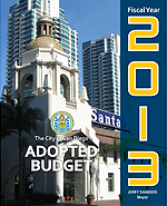 Fiscal Year 2013 Adopted Budget Cover Page