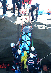 photo of cliff rescue