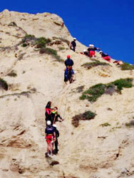 Cliff rescue photo
