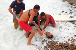 Surf rescue photo
