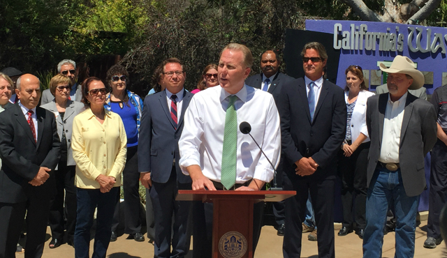 Photo of Mayor Faulconer speaking at news conference
