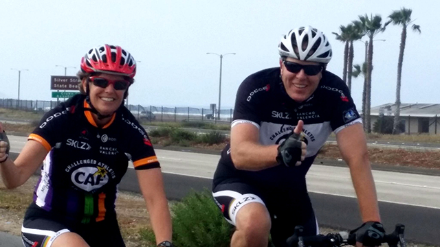 Photo of Mayor Faulconer and Police Chief Zimmerman on bikes